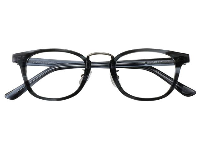 メガネ 度付き/度なし/伊達メガネ セルフレーム(プラスチック) ウェリントン ボストン マンレイ山 グレー 鼻パッド付 メガネセット EC016-GYS【金子眼鏡】【薄型レンズ付】 【ケース付】【送料無料】