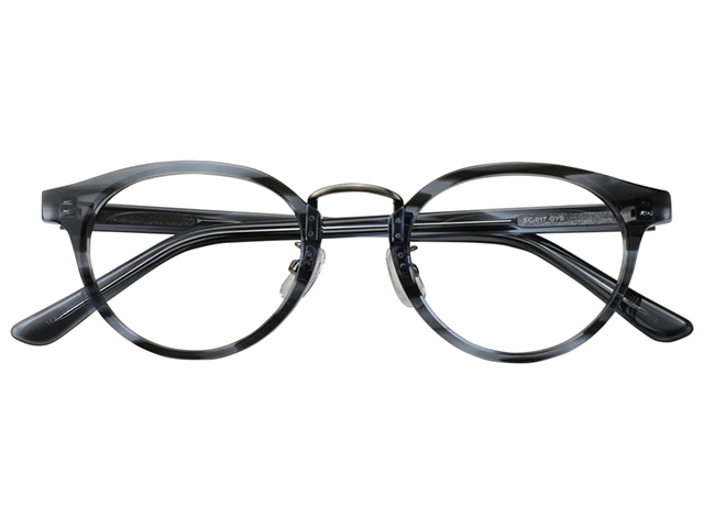 メガネ 度付き/度なし/伊達メガネ セルフレーム(プラスチック) ウェリントン ボストン マンレイ山 グレー 鼻パッド付 メガネセット EC017-GYS【金子眼鏡】【薄型レンズ付】 【ケース付】【送料無料】