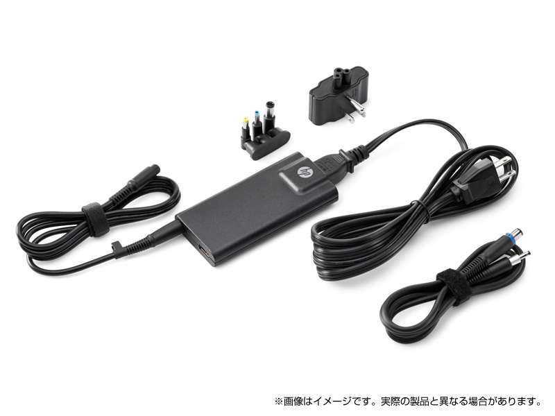 <ACアダプター> HP 65W スリムACアダプター(USBポート付)(型番:G6H47AA#ABJ)(USBポート/変換コネクター付) *HP ENVYシリーズ、HP Pavilionシリーズ、HP 17シリーズ専用となります。