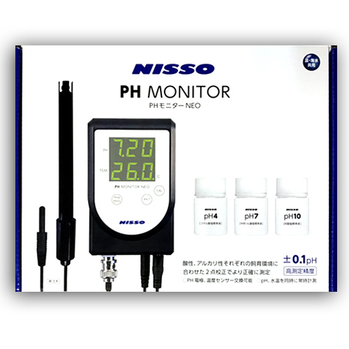 ニッソー PHモニターNEO 高測定精度 水質測定器 NCM-045 ペーハーモニターネオ PH測定器 ペーハー測定器
