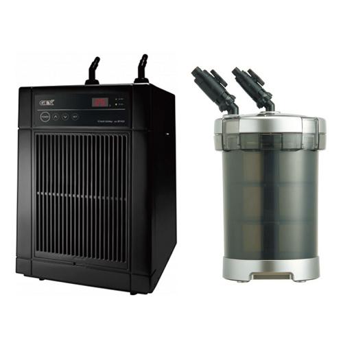 「GEX クールウェイ BK210」と「GEX メガパワー 9012」のセット 水槽用クーラーと水槽用外部フィルター