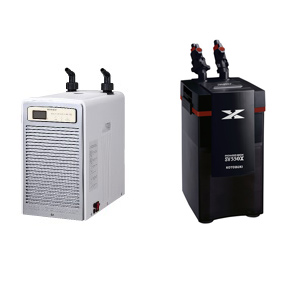 「ニッソー アクアクーラースリム202 」と「コトブキ パワーボックス SV550X」のセット 水槽用クーラー 外部フィルター