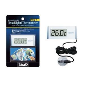 新品未使用 スタイリッシュなデジタル水温計 テトラ セール デジタル 水温計 水槽用 ホワイト WD-1