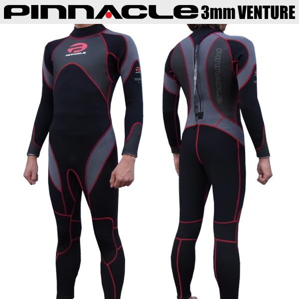 【2019モデル入荷!あす楽!全国送料無料!】男性用 Pinnacle ピナクル 3mmウェットスーツ ベンチャー チタンコーティング メンズ ウエットスーツ PINNACLE フルスーツ Pinnacle aquatics