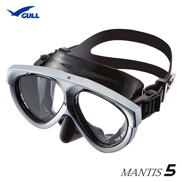 【全国送料無料!】GULL ガル マンティス5シリコンマスク MANTIS5 ブラックシリコン メタリックシルバー GM-1037