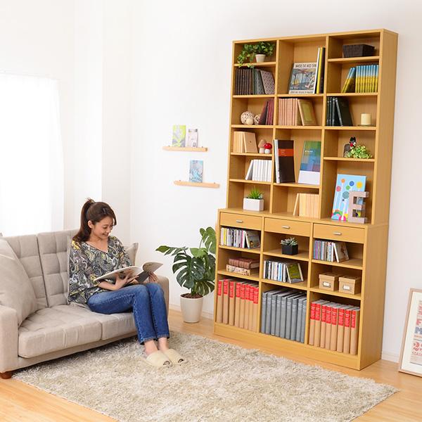 オープンラック 木製 ディスプレイラック 本棚 ホワイト 壁面収納 大容量