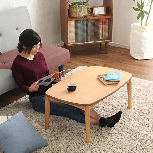 こたつテーブル 長方形 アルダー材 日本製 こたつ タイプ テーブル コンパクト 薄型ヒーター 省エネ
