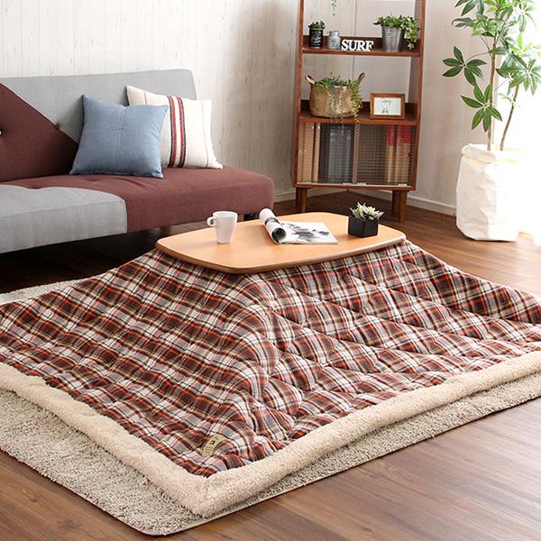 こたつテーブル 長方形 布団 2点セット アルダー材 日本製 こたつ タイプ テーブル コンパクト 薄型ヒーター 省エネ