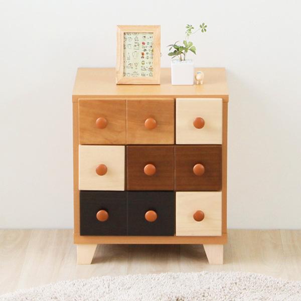 チェスト 木製 完成品 北欧 おしゃれ 日本製 リビング 3段 ローチェスト