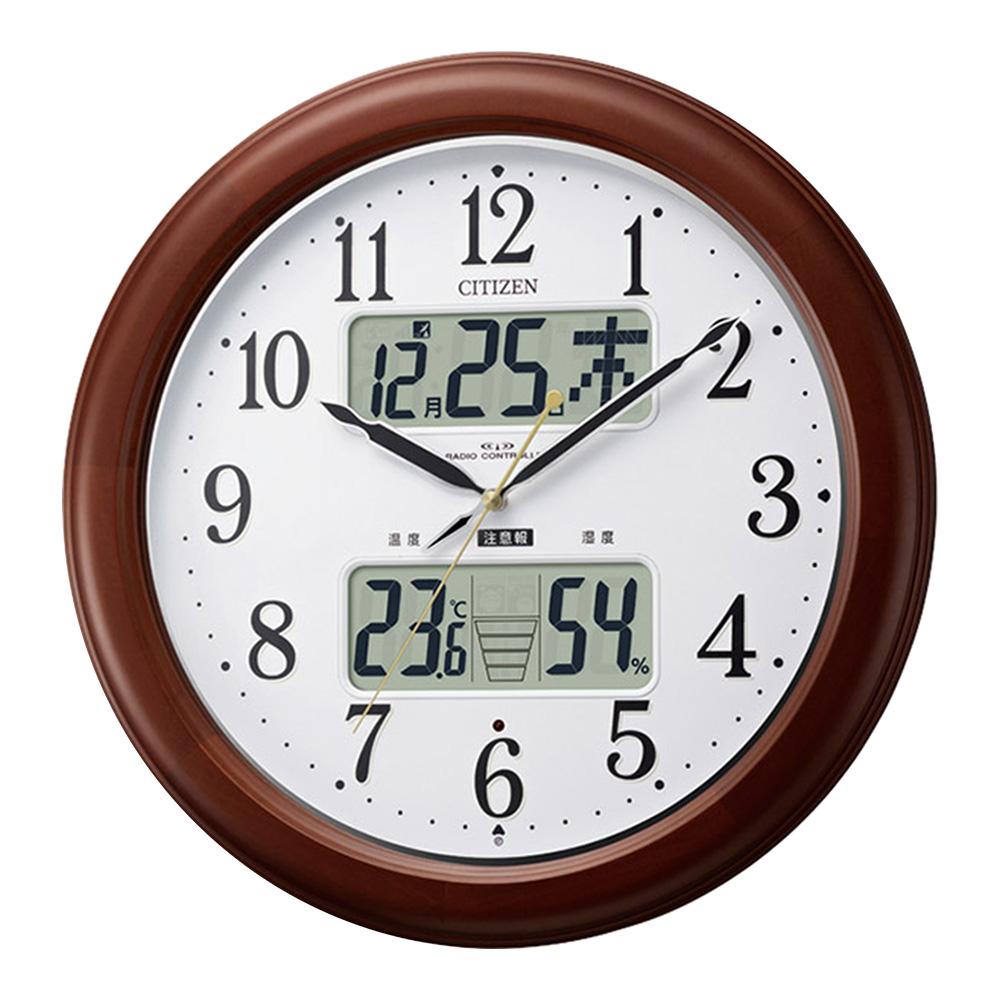 掛け時計 電波 おしゃれ 木 電波時計 壁掛け シンプル 小 壁掛け時計 時計 掛時計 クロック 送料無料 インテリア ウォールクロック デザイン時計 丸時計 丸 アンティーク デザイン かわいい 見やすい ギフト 軽量 北欧 小 茶 ブラウン
