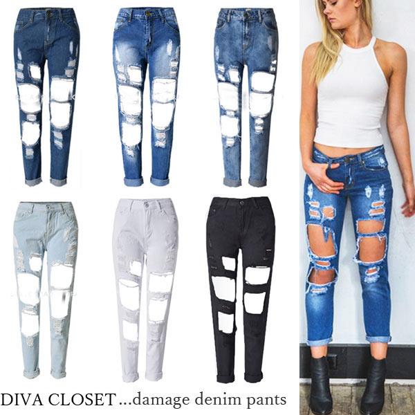 diva-closet | Rakuten Global Market: Large Super damage denim ...