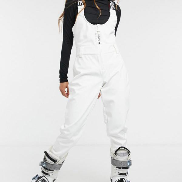 京都のセレクトショップdivacloset Surfanic 全店販売中 Amity8K-8Kスキービブパンツホワイト パンツ ボトム 小さいサイズから大きいサイズまで 女性 爆安 インポートブランド レディース