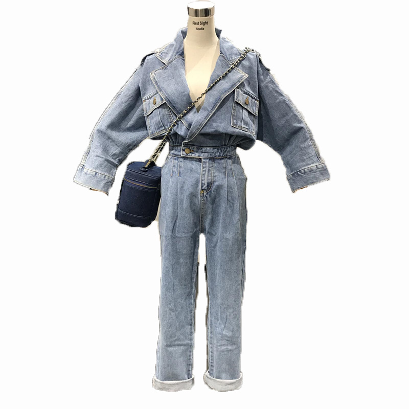 Diva Closet The Denim Overall Jumpsuit Rompers Denim Shirt Trench