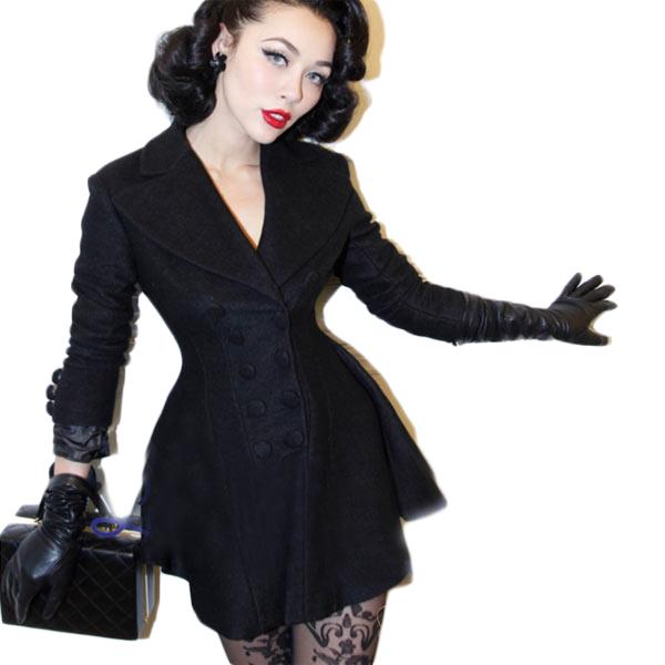 【フレア コート】ショート トレンチ ウール コート レディース ブラック 大きいサイズ 20代 30代 40代 ファッション コーディネート edm フェス ファッション セレクトショップdivacloset