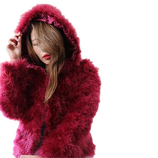 フェザー コート フード付きフェザーコート 長袖 15色 ふわふわ feather アウター コート レディース フェザー ジャケット 暖か 極暖 オシャレ トレンド S~XL 20代 30代 40代 ファッション コーディネート アウター インポート レディース インスタ映え