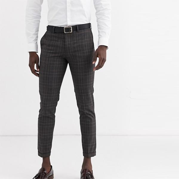 Jack & Jones ASOS エイソス asos  メンズ スキニー スーツパンツ レッド ボトム 大きいサイズ インポート カジュアル アウトフィット フェス