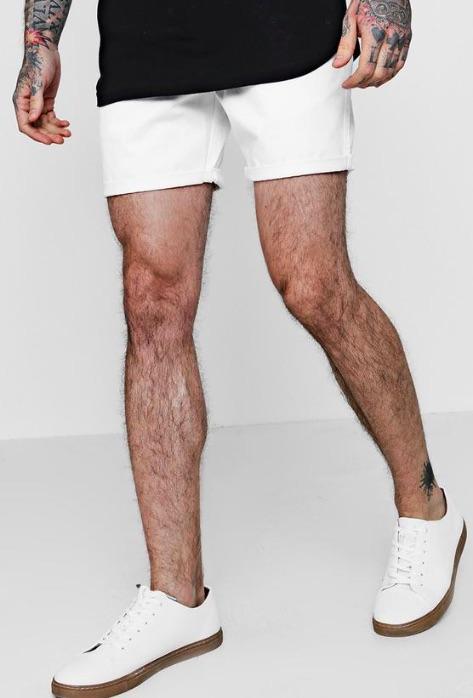 5a0400b1e8776 ... boohoo (Buch) slim fitting short Chino chino pants short pants half  underwear bottom middle ...