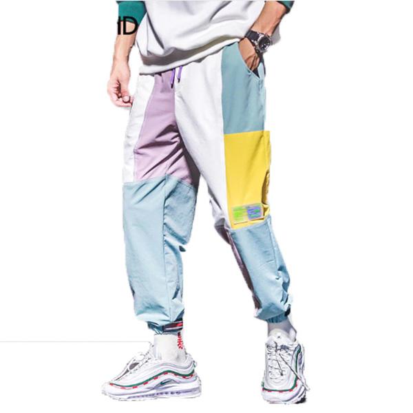 パステル カラフルブロック パッチワーク メンズ ジョガーパンツ スウェットパンツ スエットパンツ ズボン ボトム 大きいサイズあり 20代 30代 40代 50代 お洒落 edm hiphop フェス divacloset メンズファッション ユニセックス ダンス