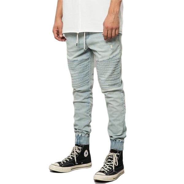ELWOOD(エルウッド) メンズ モトジョガーパンツ デニム メンズ スリムパンツ スリムフィット スウェット パンツ ボトム ジョガーパンツ パンツ 大きいサイズ インポート リゾート ストリート ファッション 日本未入荷 インスタ映え フェス 野外 男性 20代 30代 40代