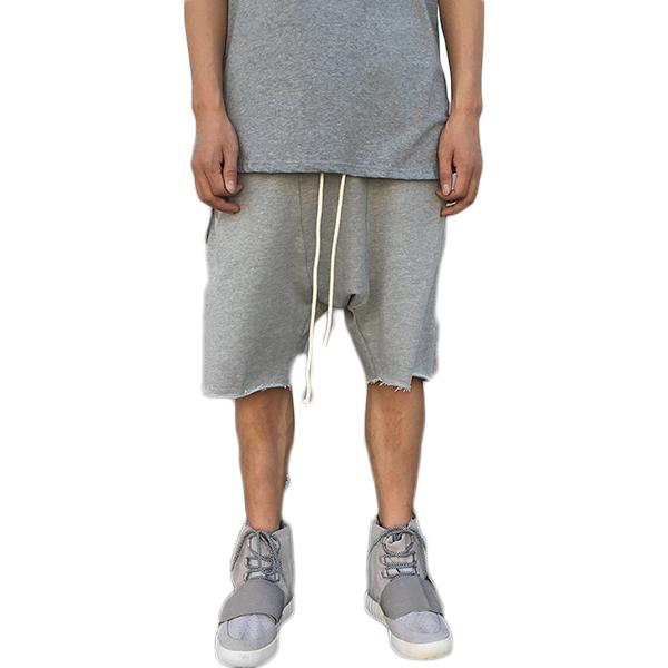 Urkool(ユーアークール)メンズ ショートパンツ ドロップクロッチ スウェット パンツ ブラック グレー ボトムス ドロップクロッチ ショーツ ショートパンツ トレンド インポート 日本未入荷 大きいサイズ 流行 最新 メンズカジュアル divacloset