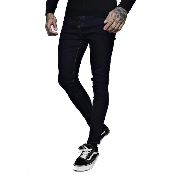 fdad25f3fe59 boohoo (Buch) skinny jeans slim fitting indigo blue Kinney fitting men spray  on denim ...