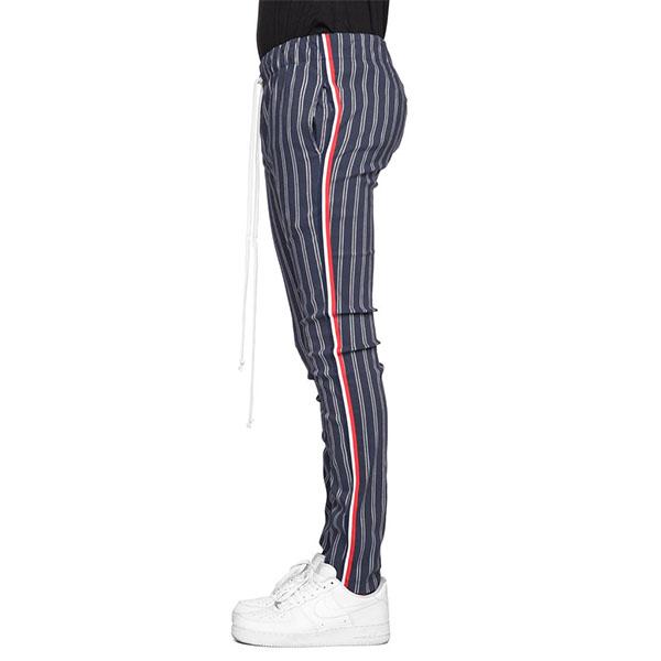 LA発【EPTM(エピトミ)】ストライプ柄 ライン ジョガーパンツ スウェットパンツ スウェット スキニー ジムウェア フィットネスウェア スリム ファスナー 日本未入荷 インポートブランド パンツ 20代 30代 40代 メンズ ユニセックス ファッション コーディネート