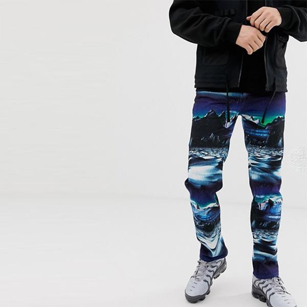 ASOS メンズ ボトム メンズ デニム ズボン パンツ/スーパーストレッチデニム 大きいサイズあり インポート エクストリームスーパースキニーフィット スウェットパンツ ジーンズ ジーパン 20代 30代 40代 ファッション コーディネート 小さいサイズあり
