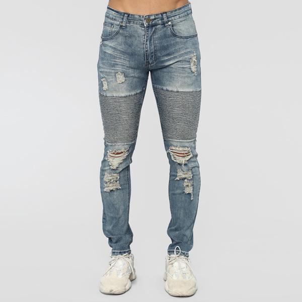LA発!FASHION NOVA(ファッションノバ) インポートブランド メンズ デニム ダメージバイカーデニムジーンズ 20代30代40代 日本未入荷 大きいサイズあり 流行 最新 メンズカジュアル edm フェス ファッション