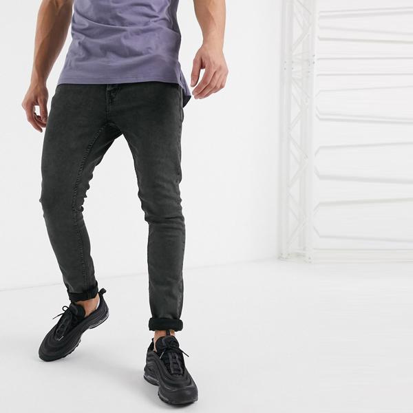 ASOSセレクト Burton Menswear asos ASOS エイソス メンズ Burton Menswear カーキ ウオッシュ スキニー ジーンズ 大きいサイズ インポート エクストリームスーパースキニーフィット スウェットパンツ ジーンズ ジーパン 20代 30代 40代 ファッション コーディネート