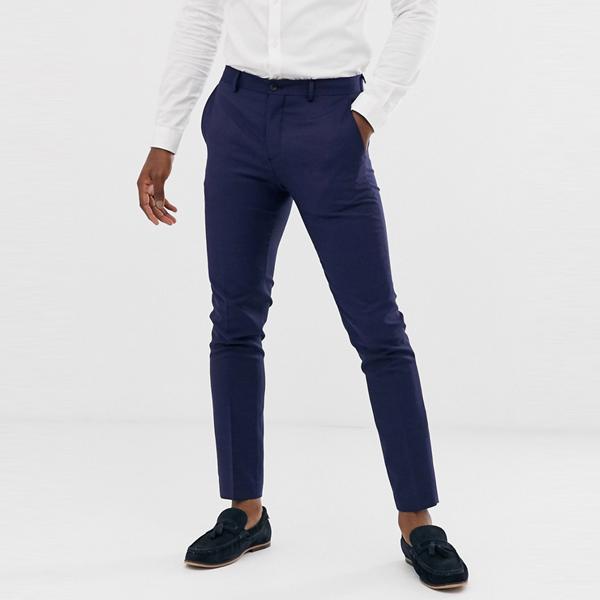 ASOSセレクト Jack & Jones asos ASOS エイソス メンズ ネイビー スーパー スリム フィット ストレッチスーツ ズボン 大きいサイズ インポート エクストリームスーパースキニーフィット スウェットパンツ ジーンズ ジーパン 20代 30代 40代 ファッション コーディネート