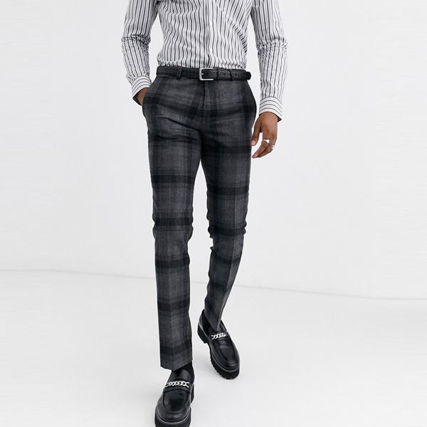 ASOSセレクト Twisted Tailor asos ASOS エイソス メンズ グレー チェック スーパー スキニー フィットスーツ ズボン 大きいサイズ インポート エクストリームスーパースキニーフィット スウェットパンツ ジーンズ ジーパン 20代 30代 40代 ファッション コーディネート