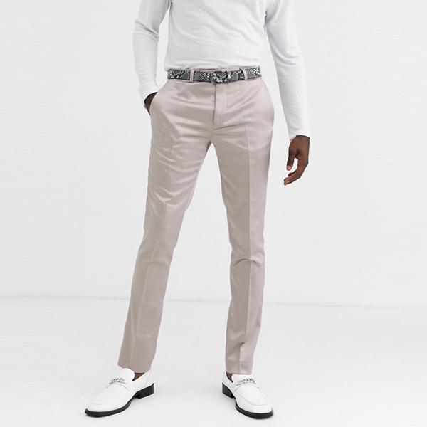 ASOSセレクト Twisted Tailor asos ASOS エイソス メンズ Twisted Tailor シャンパン サテン スキニースーツ ズボン 大きいサイズ インポート エクストリームスーパースキニーフィット スウェットパンツ ジーンズ ジーパン 20代 30代 40代 ファッション コーディネート