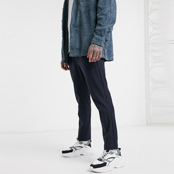 ASOSセレクト Mennace asos ASOS エイソス メンズ Mennace ネイビー テーパー ズボン 大きいサイズ インポート エクストリームスーパースキニーフィット スウェットパンツ ジーンズ ジーパン 20代 30代 40代 ファッション コーディネート