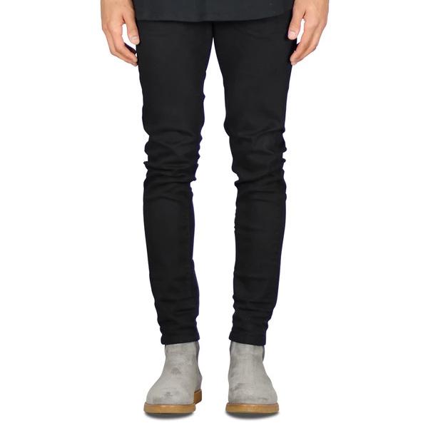 脚がきれいに細く見えるデニム HYPER DENIM(ハイパーデニム) メンズ ブラック スキニーデニム ジーンズ 日本未入荷 大きいサイズ 京都のセレクトショップdivacloset 脚のラインがきれい