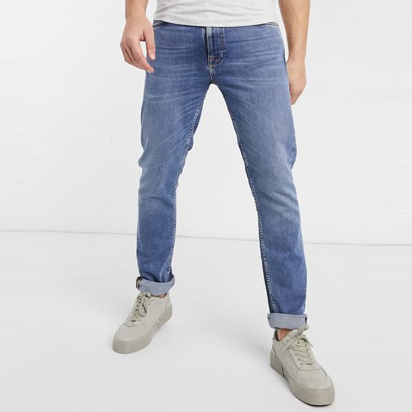 ASOSセレクト Nudie asos ASOS エイソス メンズ Nudie Jeans Lean オレンジ ディーン スリム テーパー フィット ジーンズ 大きいサイズ インポート エクストリームスーパースキニーフィット スウェットパンツ ジーンズ ジーパン 20代 30代 40代 ファッション コーディネート