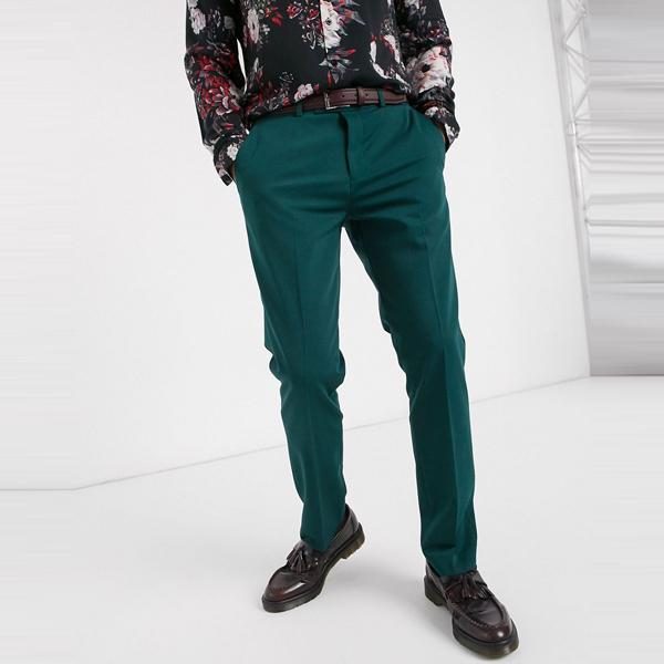 ASOSセレクト Lockstock asos ASOS エイソス メンズ Lockstock Mayfair 森 グリーン スーツズボン 大きいサイズ インポート エクストリームスーパースキニーフィット スウェットパンツ ジーンズ ジーパン 20代 30代 40代 ファッション コーディネート