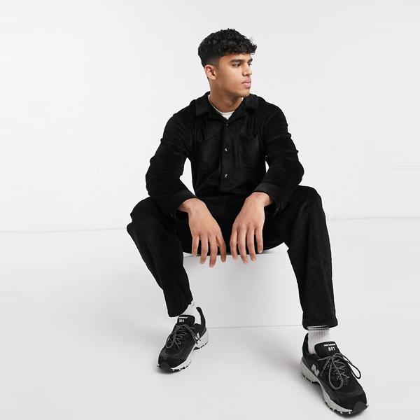 asos ASOS エイソス メンズ ASOS DESIGN ブラック コード つなぎ 大きいサイズ インポート エクストリームスーパースキニーフィット スウェットパンツ ジーンズ ジーパン 20代 30代 40代 ファッション コーディネート