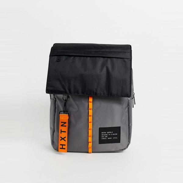 バック カバン ASOSセレクト HXTN Supply asos ASOS エイソス メンズ カラー ブロック 有用 インジケータ リュック 大きいサイズ インポート エクストリームスーパースキニーフィット スウェットパンツ ジーンズ ジーパン 20代 30代 40代 ファッション コーディネート