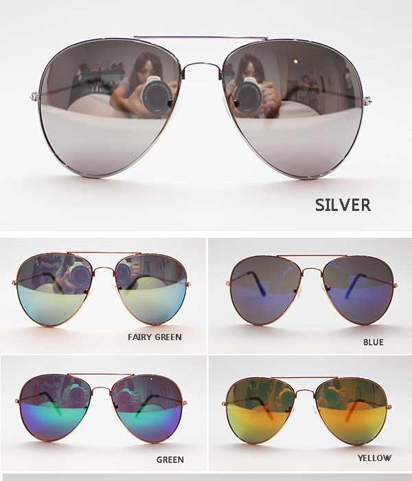 女装男装镜像的太阳镜太阳镜眼泪滴太阳镜飞行员中性男女皆宜