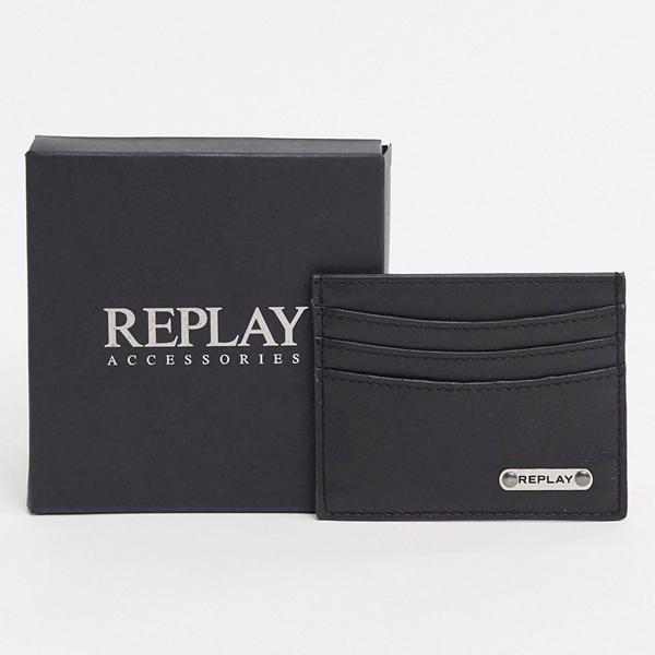 財布 サイフ Replay リプレイ asos ASOS エイソス メンズ Replay ブラック 革 カードホルダー 大きいサイズ インポート エクストリームスーパースキニーフィット スウェットパンツ ジーンズ ジーパン 20代 30代 40代 ファッション コーディネート