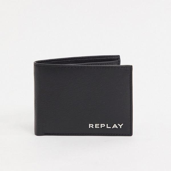 財布 サイフ Replay リプレイ asos ASOS エイソス メンズ Replay ブラック 革 札入れ 財布 大きいサイズ インポート エクストリームスーパースキニーフィット スウェットパンツ ジーンズ ジーパン 20代 30代 40代 ファッション コーディネート
