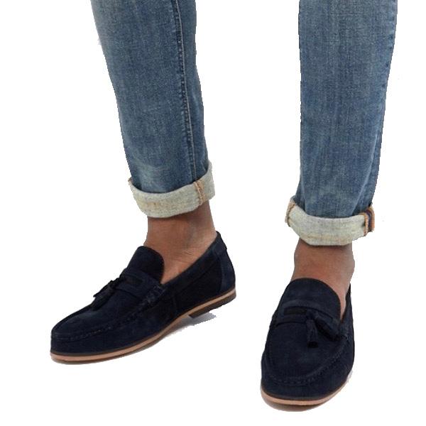 ASOS エイソス ローファー スウェード タッセル レザー リアルレザー トレンド シューズ メンズ 靴 20代 30代 40代 ファッション コーディネート アウトフィット アウトドアー オシャレ 大人 カジュアル asos