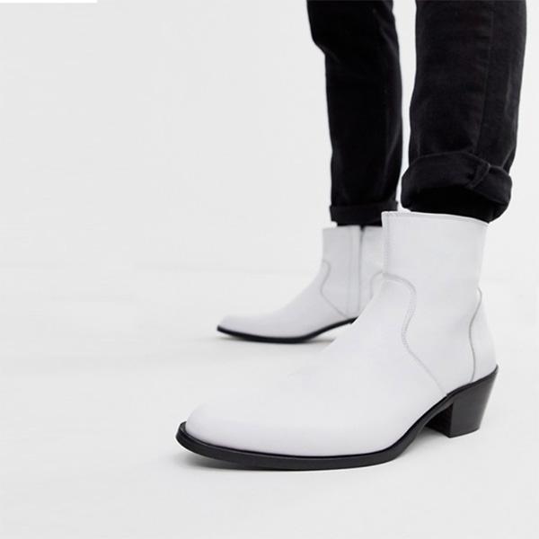 asos ASOS エイソス ホワイトレザー チェルシーブーツシューズトレンド シューズ メンズ 靴 20代 30代 40代 ファッション コーディネート アウトフィット アウトドアー オシャレ 大人 カジュアル 小さいサイズあり