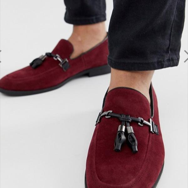 asos ASOS エイソス タッセル付きブルゴーニュフェイクスエードローファー スニーカー トレンド シューズ メンズ 靴 20代 30代 40代 ファッション コーディネート アウトフィット オシャレ 大人 カジュアル 小さいサイズあり 京都のセレクトショップdivacloset