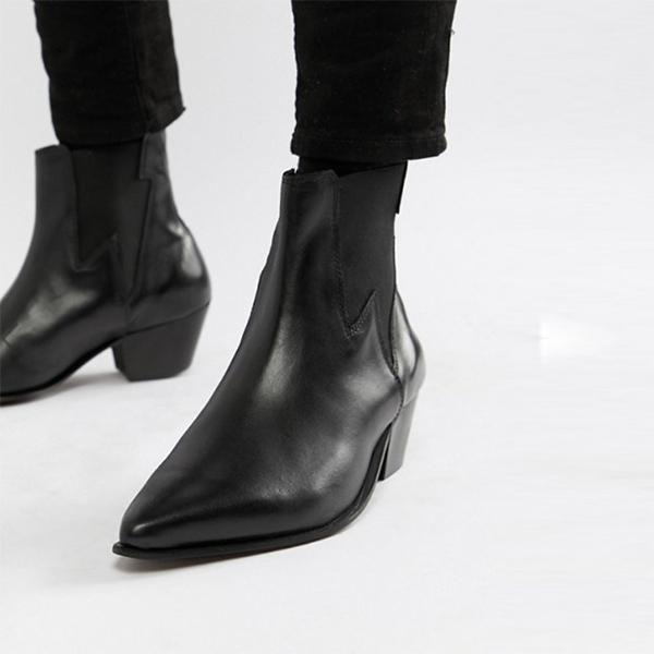 ASOS エイソス asos ウエスタンチェルシーブーツ メンズ 靴 20代 30代 40代 ファッション コーディネート アウトフィット アウトドアー オシャレ 大人 カジュアル 小さいサイズあり