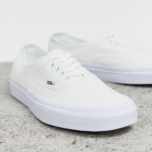 靴 シューズ Vans ヴァンズ asos ASOS エイソス メンズ Vans Authentic 白 トレーナー 大きいサイズ インポート エクストリームスーパースキニーフィット スウェットパンツ ジーンズ ジーパン 20代 30代 40代 ファッション コーディネート