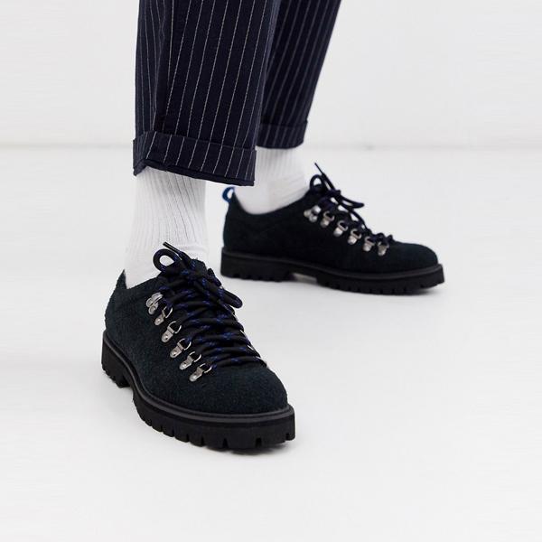 靴 シューズ asos ASOS エイソス メンズ ASOS DESIGN ブラック フェイク スエード ブラック 唯一 ハイカー 靴 大きいサイズ インポート エクストリームスーパースキニーフィット スウェットパンツ ジーンズ ジーパン 20代 30代 40代 ファッション コーディネート