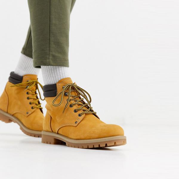 靴 シューズ ASOSセレクト Jack & Jones asos ASOS エイソス メンズ Jack & Jones 日焼け ヌバック レザー ブーツ 大きいサイズ インポート エクストリームスーパースキニーフィット スウェットパンツ ジーンズ ジーパン 20代 30代 40代 ファッション コーディネート