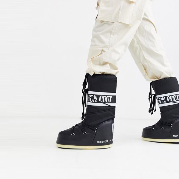 靴 シューズ ASOSセレクト Moon Boot asos ASOS エイソス メンズ Moon Boot ブラック クラシック 雪 ブーツ 大きいサイズ インポート エクストリームスーパースキニーフィット スウェットパンツ ジーンズ ジーパン 20代 30代 40代 ファッション コーディネート