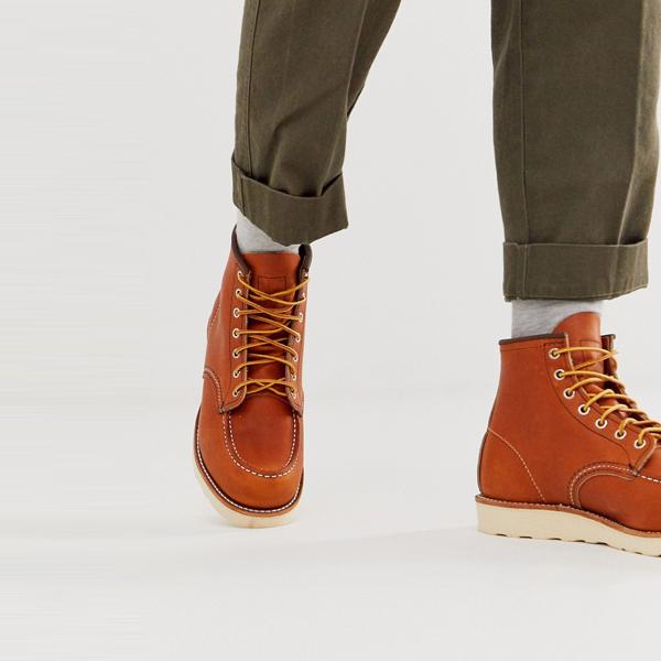 靴 シューズ Red Wing レッドウィング asos ASOS エイソス メンズ オロレガシーレザー クラシック 6インチ MOCブーツ 大きいサイズ インポート エクストリームスーパースキニーフィット スウェットパンツ ジーンズ ジーパン 20代 30代 40代 ファッション コーディネート